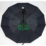 Зонт повний автомат Fiaba fia01202-12 складаний на 12 спиць Чорний, фото 3