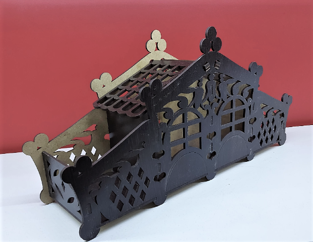 """Будиночок для чаю """"Казковий палац"""" з цукерниці венге 36,5х17,5х9,5см"""