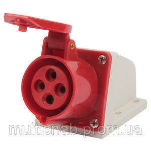 Силова розетка стаціонарна e.socket.pro.4.16, 4п., 380В, 16А (114), фото 1