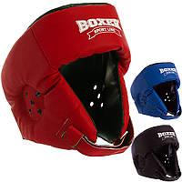 Шолом боксерський відкритий кожвініл Boxer 2028 (шолом для боксу): розмір L (3 кольори)