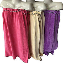 """Парео (полотенце) женское банное микрофибра """"Бантик"""" розовое, Sauna Pro"""