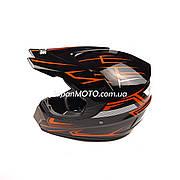 Шлем кроссовый VIRTUE (size: L, черно-красный, MD-905)