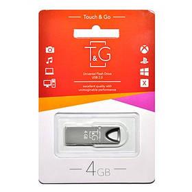 Накопичувач USB 4GB T&G металева серія 117 чорний
