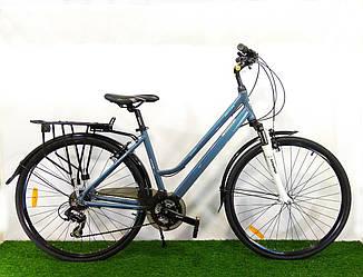 """Городской велосипед Crosser City Life Lady 28"""" серый"""