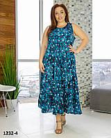Платье летнее сарафан женское длинное размеры 54-58