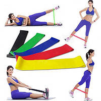 Ленточный эспандер для фитнеса набор, Fitness Tape, резинки для тренировок и спорта (5 эспандеров/уп)