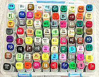 Маркеры для скетчинга 80 цветов набор двусторонние
