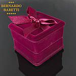 Кулон з цирконом BERNARDO BARETTI на ланцюжку Сріблястий в оксамитовому футлярі (K008), фото 5