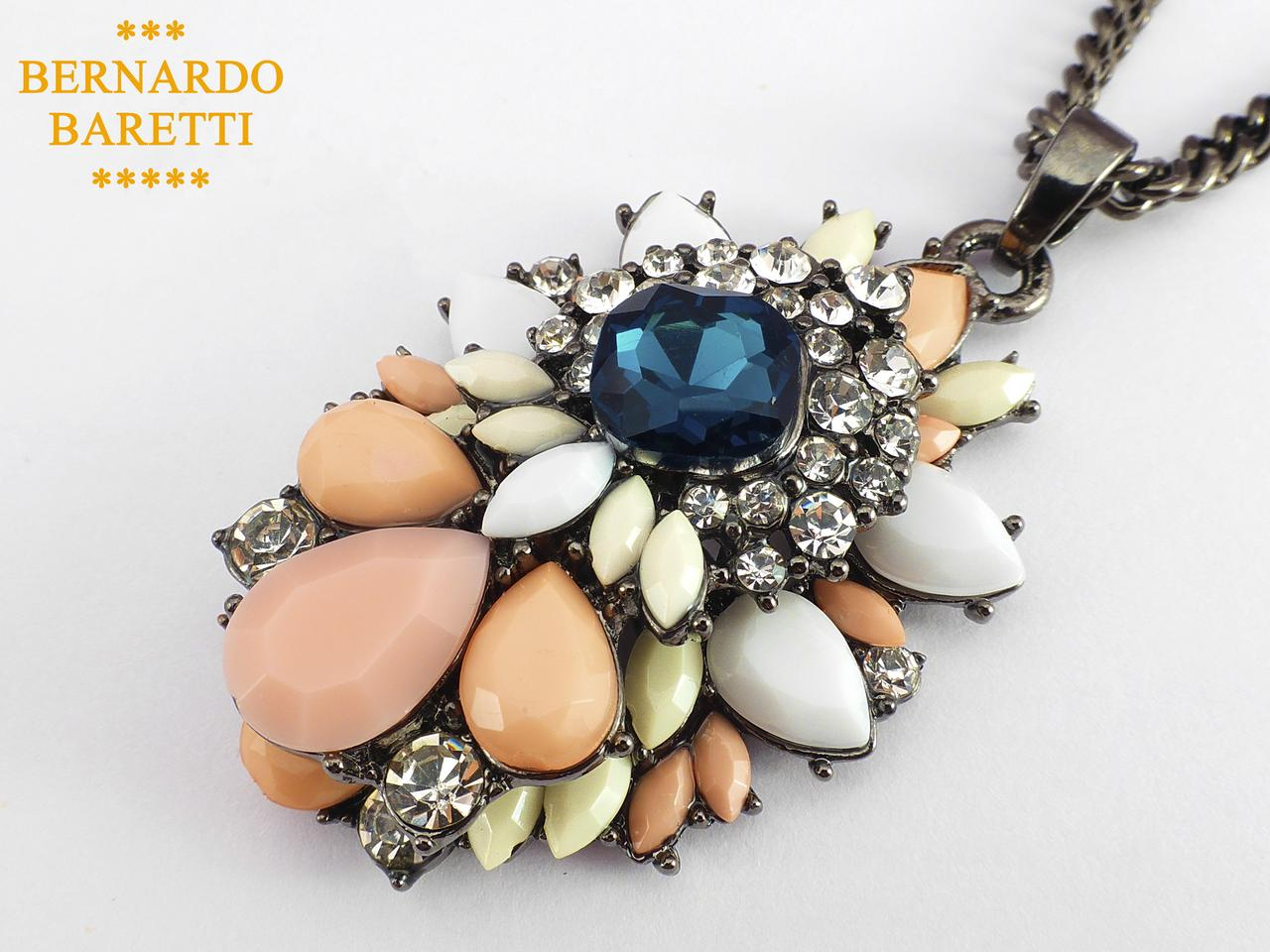 Підвіска BERNARDO BARETTI з різнокольоровими каменями (K001)