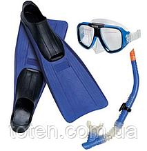 Набір для підводного плавання дитячий 55957 Intex 38-40 р (Устілка 24-26см). Ласти, маска, трубка