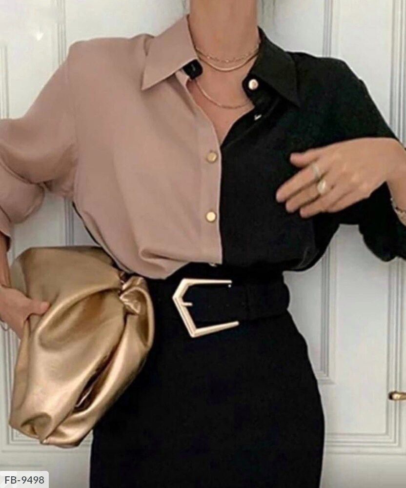 Женская двуцветная блузка