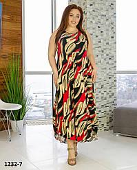 Длинные платья женские летние размеры 54-58