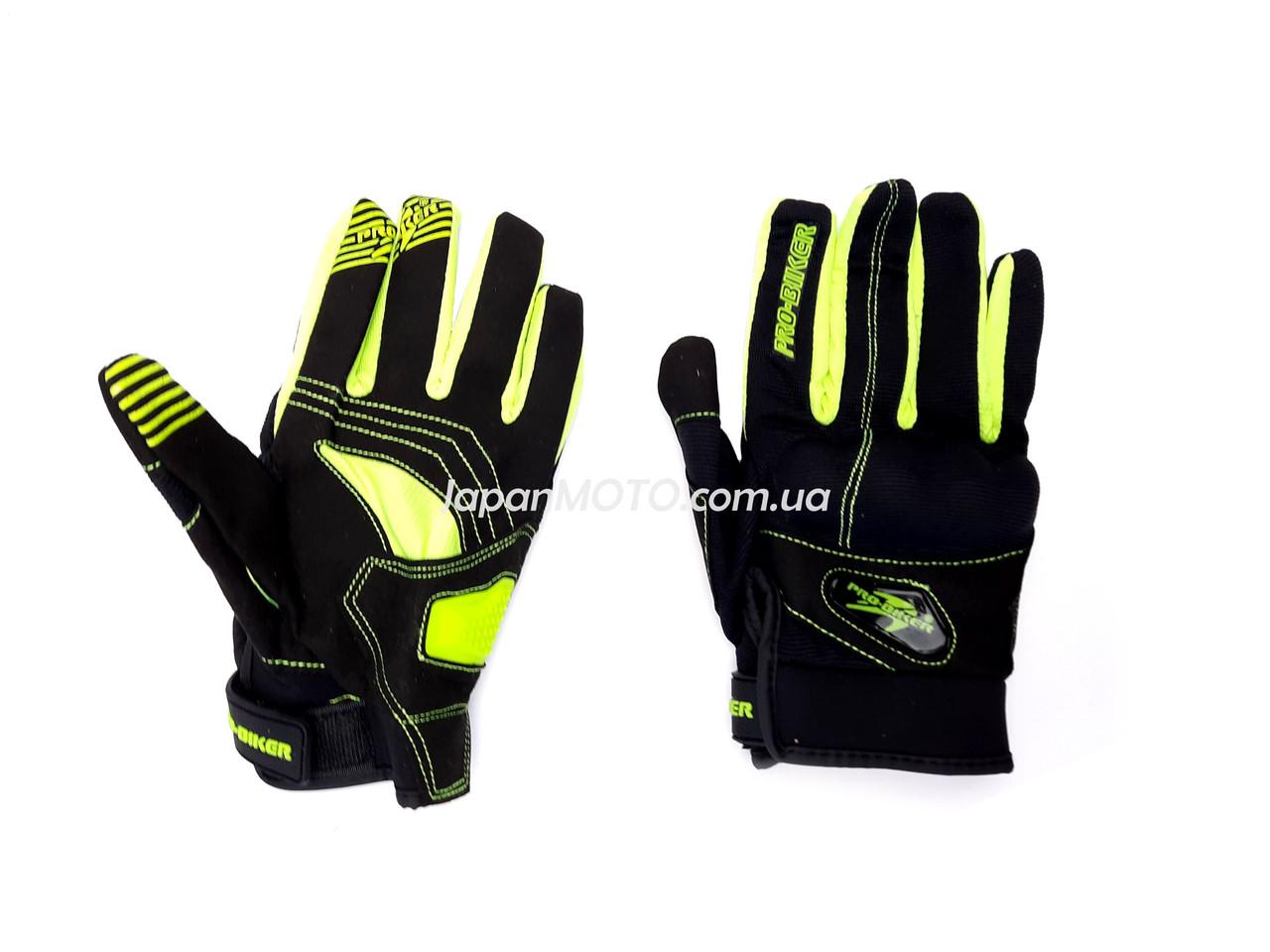 Перчатки PRO BIKER MCS-48 (size: XL, зеленые)