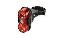 Задній ліхтар велосипеда JY-528-1 на 2 LED 0,5 Вт, фото 1