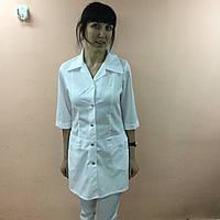 Жіночий медичний халат Диско короткий рукав бавовна