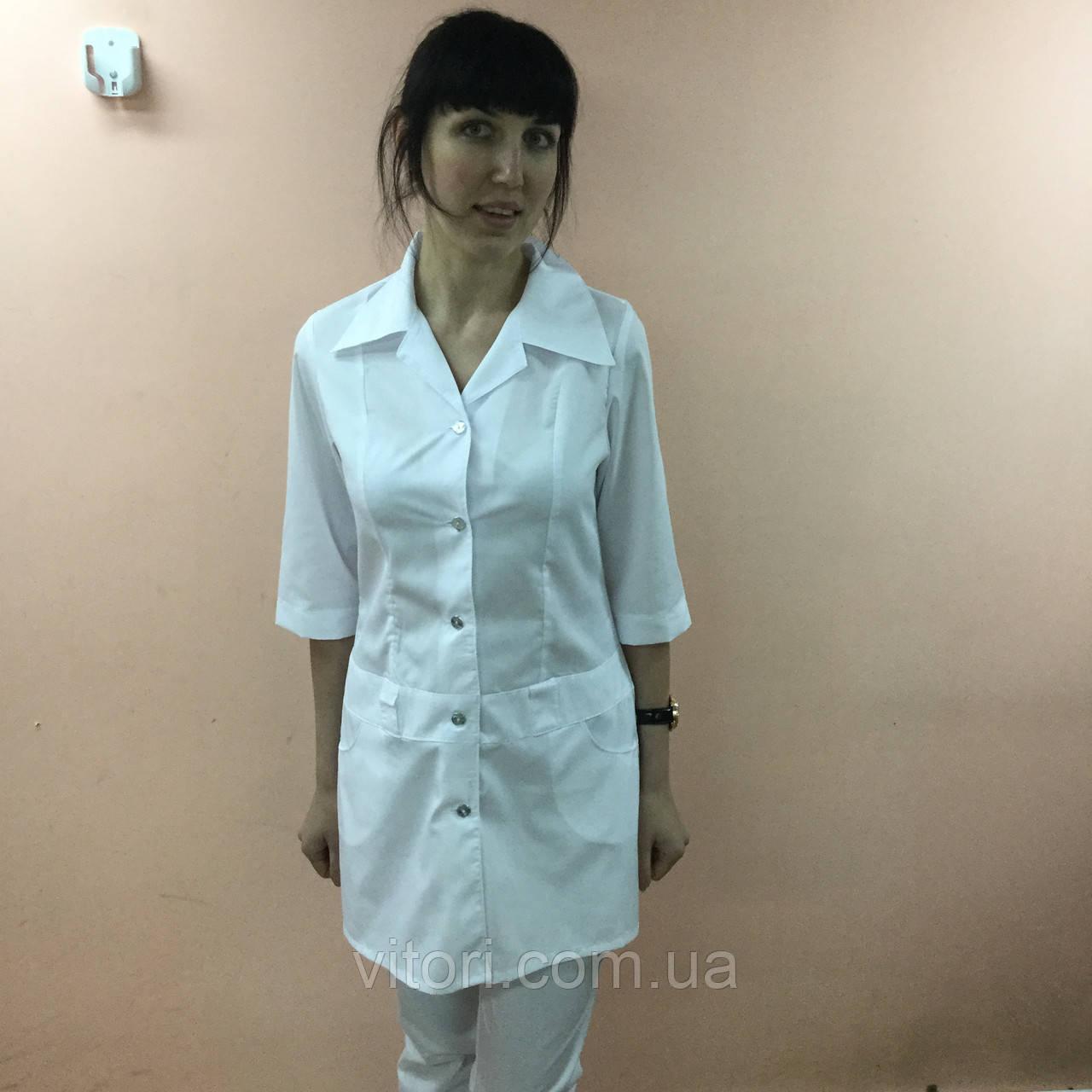 Женский медицинский халат Диско короткий рукав хлопок