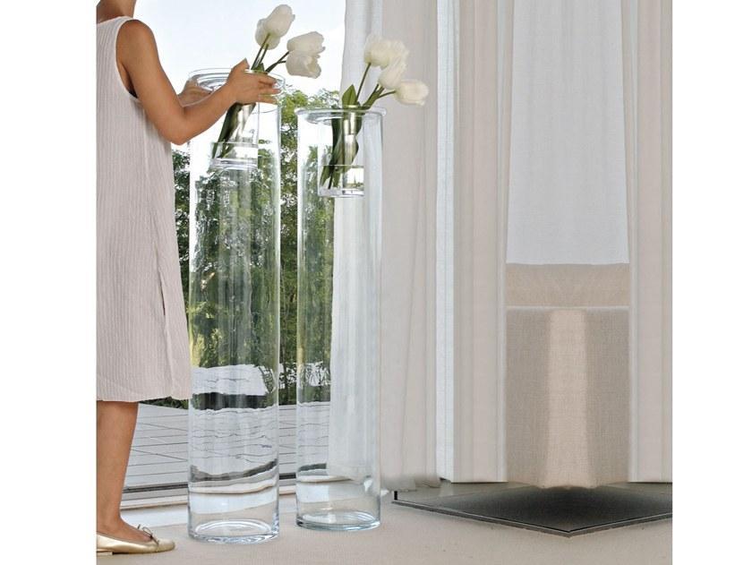 Ваза скляна Adriani Rossi Gladiolo 25x120 см Прозора (34597)