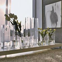 Ваза стеклянная Adriani Rossi Kiff 8x25 см Прозрачная (31646)