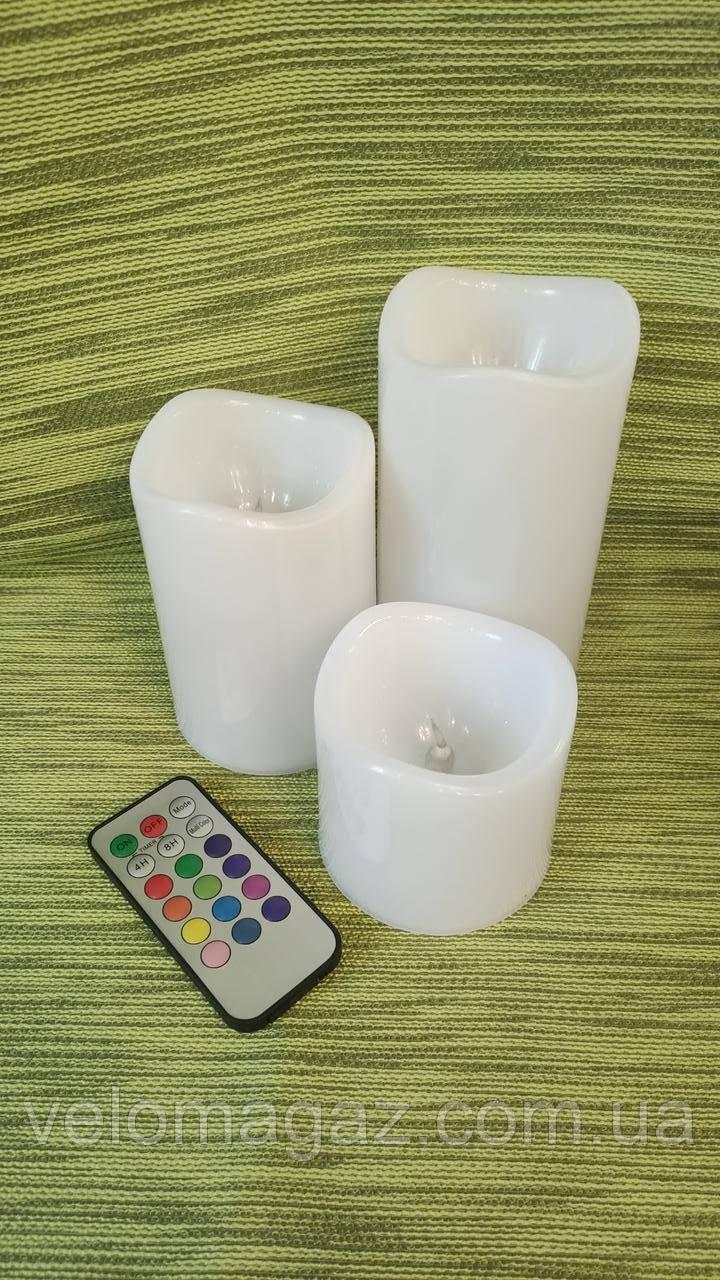 LED свічки з підсвічуванням і пультом управління для інтер'єру і романтичних вечорів!