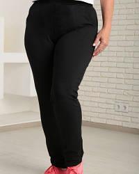 Спортивные штаны женские трикотажные двухнитка, черные