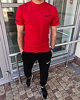 Весняний спортивний костюм чоловічий червоно-чорний Nike (3 кольори) ПН/-2887