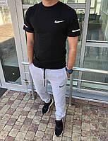 Весняний спортивний костюм чоловічий чорно-сірий Nike (3 кольори) ПН/-2887