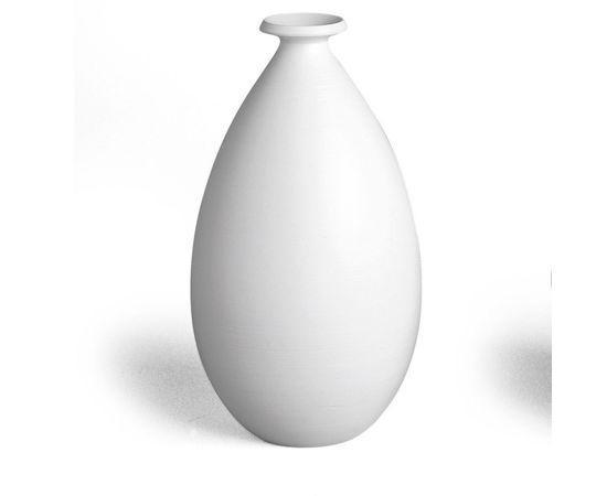 Ваза керамическая Adriani Rossi Kiff 18x29 см Матовая белая (31626)