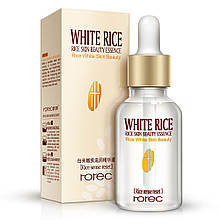 Осветляющая сыворотка для лица Rorec Rice Skin Beauty Essence с экстрактом белого риса, 15 мл