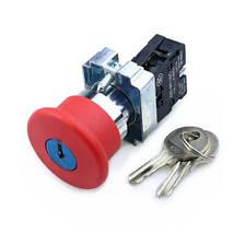 """Кнопка управления XB2-BS142 нажимная с фиксацией и ключем красная """"Стоп"""", фото 2"""