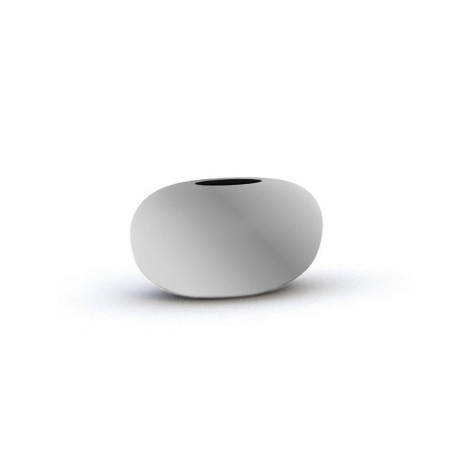 Ваза керамічна Adriani Rossi Sfera 22x15 см Матове срібло (34578)