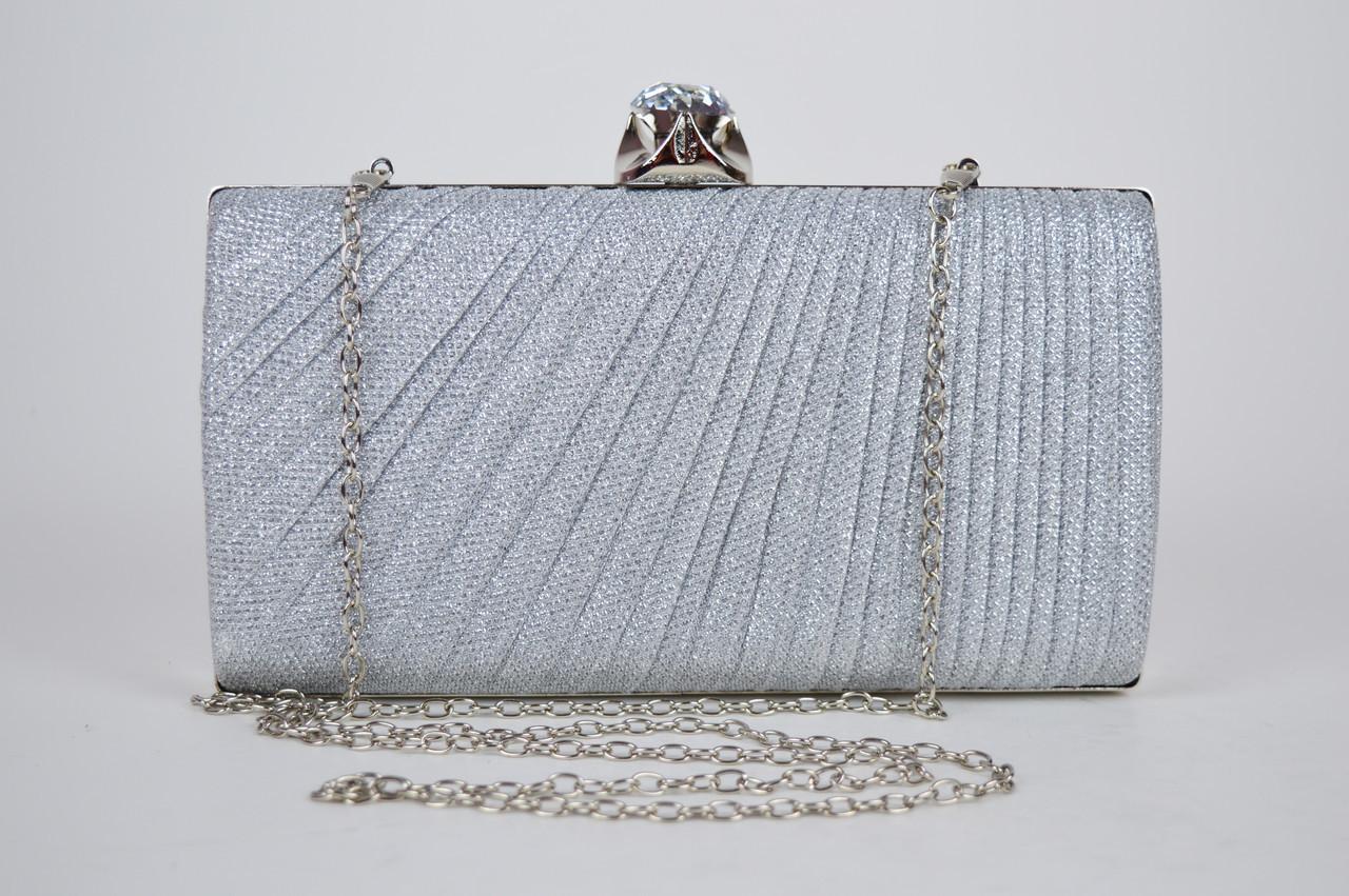 Клатч жіночий Сріблястий 21570
