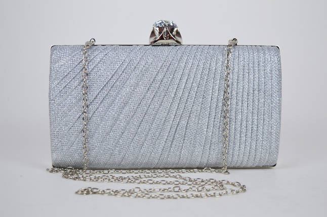 Клатч жіночий Сріблястий 21570, фото 2