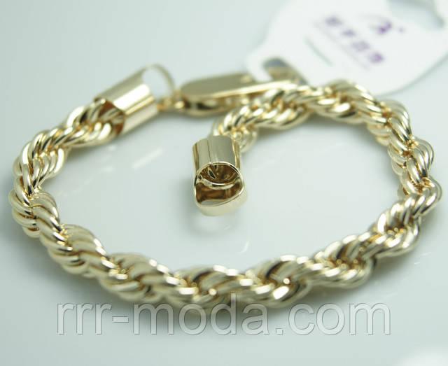 Поступление новых моделей позолоченных плетённых браслетов Xuping. Женская элитная бижутерия на руку оптом и в розницу.