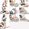 Роликовий масажер для тіла з підігрівом Shiatsu Massager of Neck Kneading, фото 3