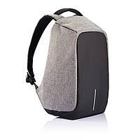 Уникальный рюкзак антивор под ноутбук Бобби Bobby с USB / с защитой от краж Черный/Серый