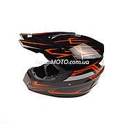 Шлем кроссовый VIRTUE (size: M, черно-красный, MD-905)