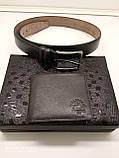 Тонкое кожаное портмоне кошелек West Polo, фото 2