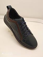 Туфлі чоловічі шкіряні синього кольору