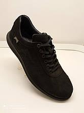 Туфлі чоловічі нубук чорні