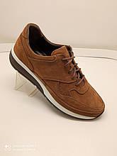 Туфлі чоловічі з нубуку рудого кольору