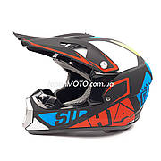 Шлем кроссовый FOX (size: XL, 126) черный матовый