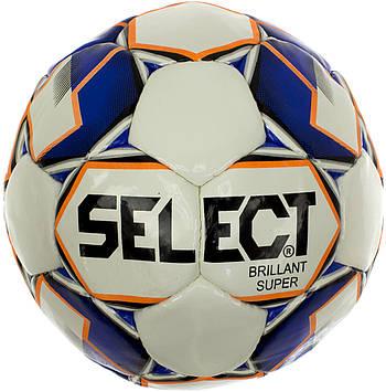 М'яч футбольний Select Briliant Super біло-синій