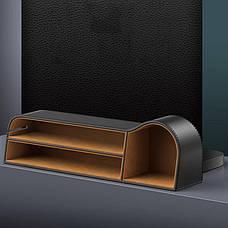 Автомобільний органайзер між сидіннями Baseus Elegant Car Storage Box Шкіра Чорний (CRCWH-01), фото 2