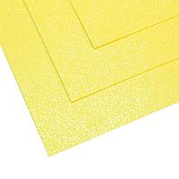 Фоамиран мерцающий 1,5мм лимонный 60х70см, фото 1
