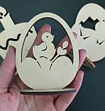 Дерев'яний великодній декор (статуетки) - набір 3 фігурки, фото 3