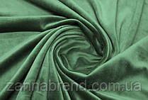 Стрейч-велюр (плюш) салатового цвета