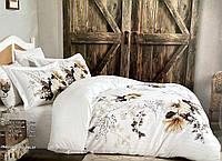 Комплект постельного белья Maison D'or Alita Beige сатин 220-200 см белый