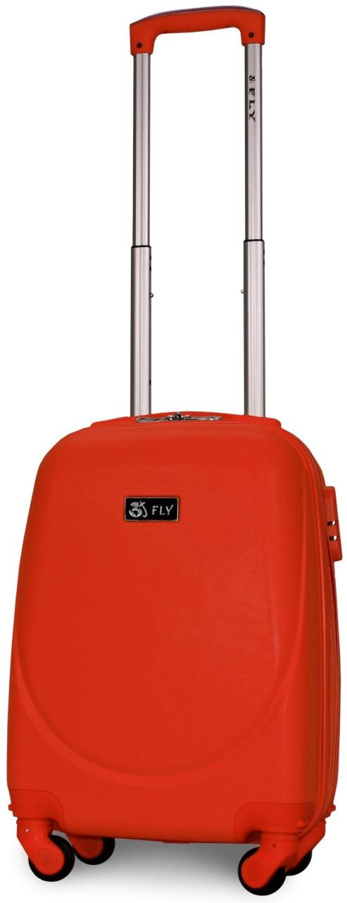 Валіза пластикова на 4х колесах міні   XS помаранчева | 20х51х35 см | 2.400 кг | 27 л | FLY 310