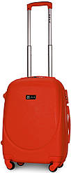 Чемодан пластиковый на 4х колесах малый S оранжевый | 23х55х37 см | 3.150 кг | 35 л | FLY 310