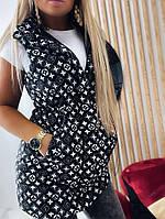 Трендова подовжена жилетка жіноча з принтами (Норма і батал), фото 7